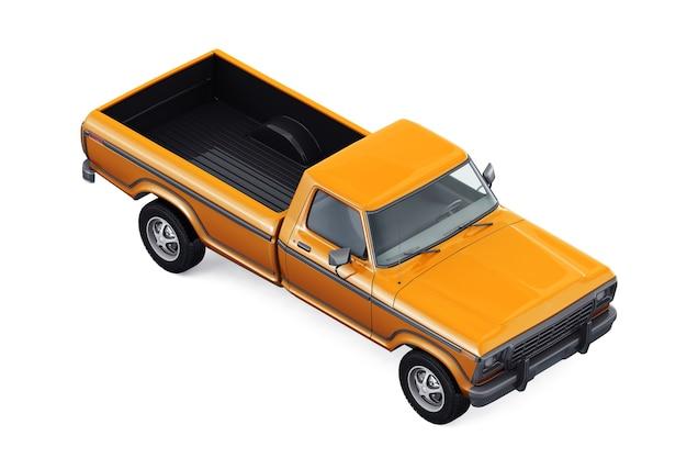 Retro pickup car 1978 mockup
