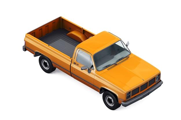 Mockup di auto pick-up retrò 1985