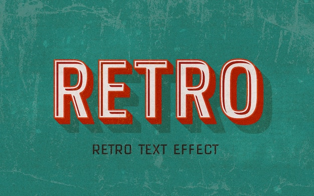 Retro red text style effect