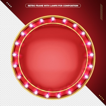 Retro round molder with realistic led lamps