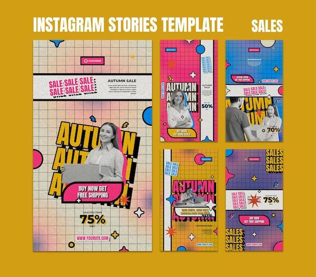 Retro sales social media stories