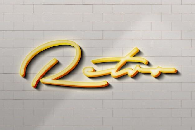Retro signage logo mockup