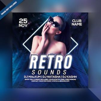 Retro sounds party flyer