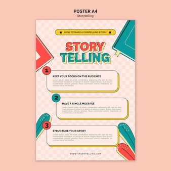 Retro storytelling print template