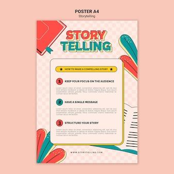 Retro storytelling print template