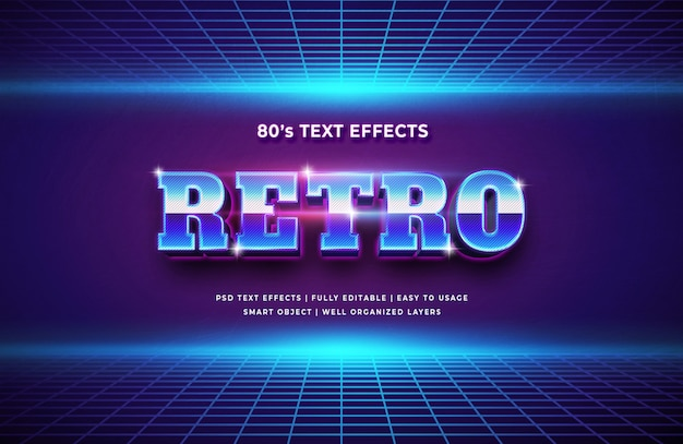 Retro style 3d text style effect