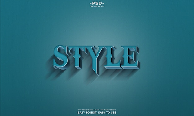 Retro style lettering text effect template premium psd