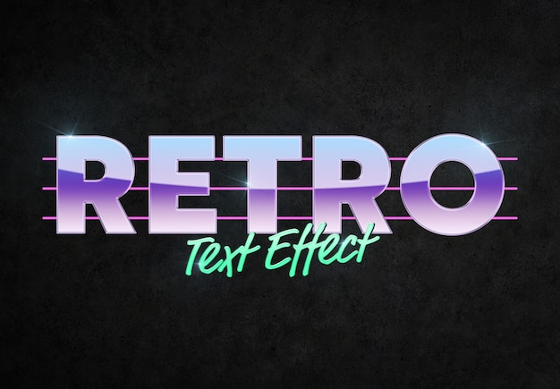 Retro style text effect mockup