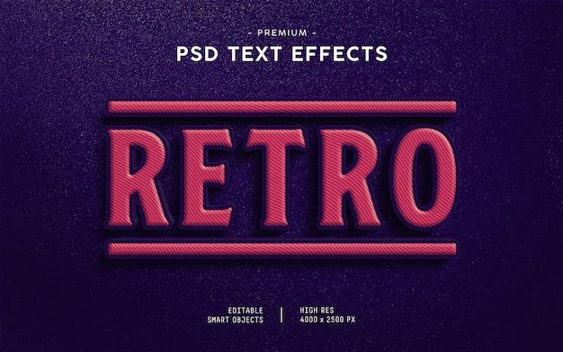 Retro text effect generator