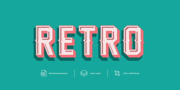 Retro text effect  style effect