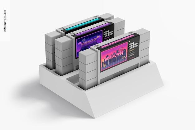 Мокап картриджей для ретро видеоигр