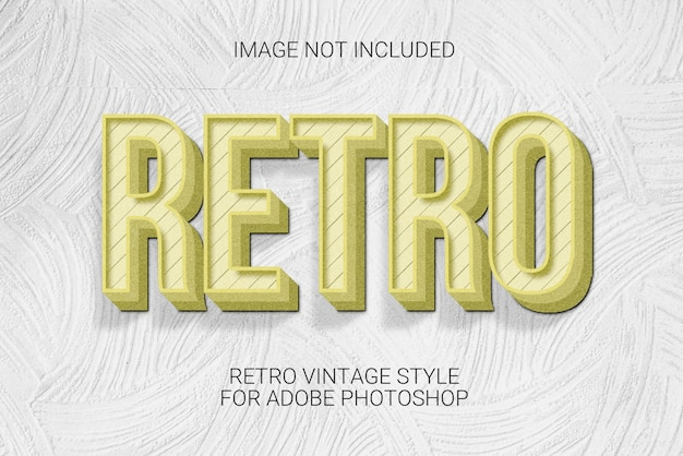Retro vintage style text effect