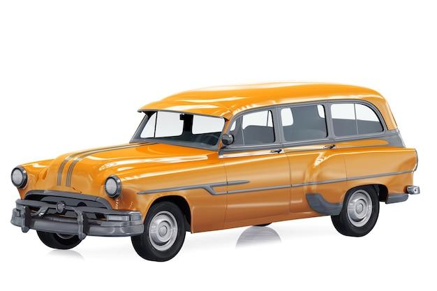 Mockup di auto combi retro carro 1953