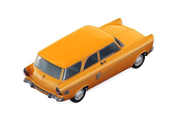 Mockup di auto combi retro carro 1957
