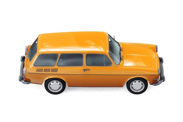 Mockup di auto combinata carro retrò 1965