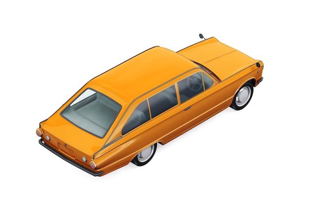 Ретро универсал комбинированный автомобиль 1966 года макет