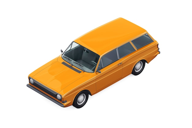 Ретро универсал комбинированный автомобиль 1967 макет