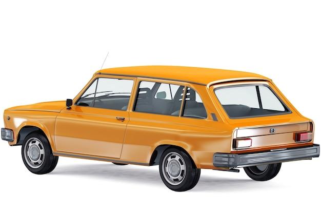 Mockup di auto combi retrò del 1975