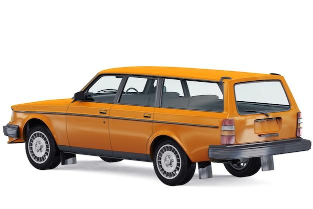 Mockup di auto combi retrò del 1984