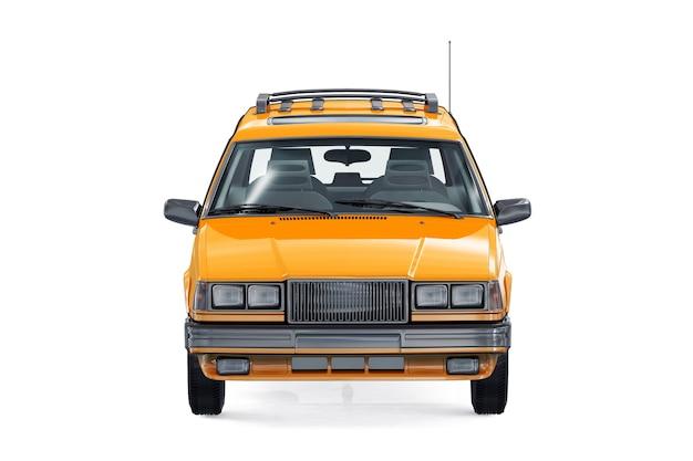 Mockup di auto combi retrò carro 1985