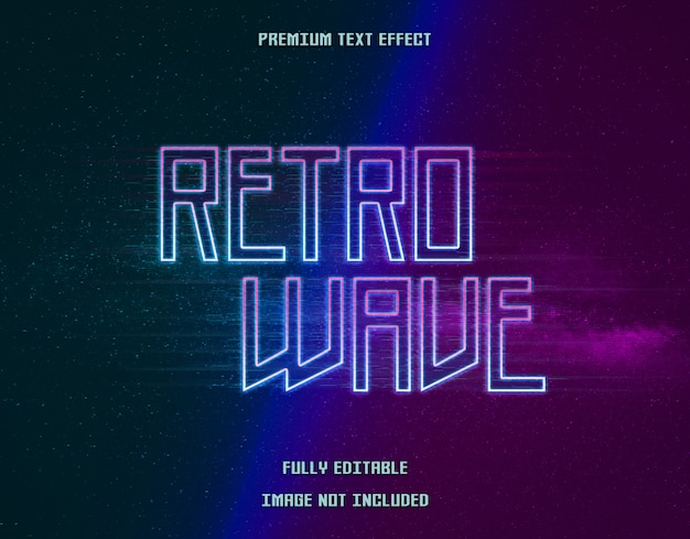 Retro wave text effect