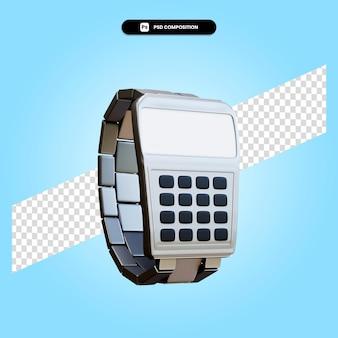 レトロな腕時計3dレンダリングイラスト分離