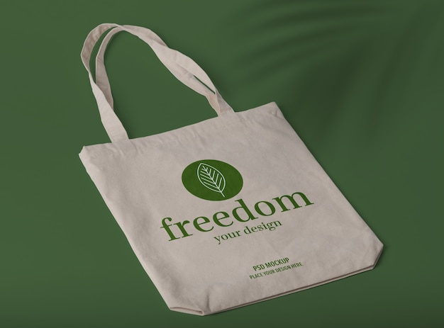 Reusable tote bag mockup
