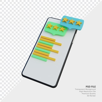 Review mobile smartphone illustration