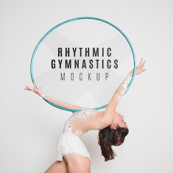 Rhythmic gymnastic mock-up