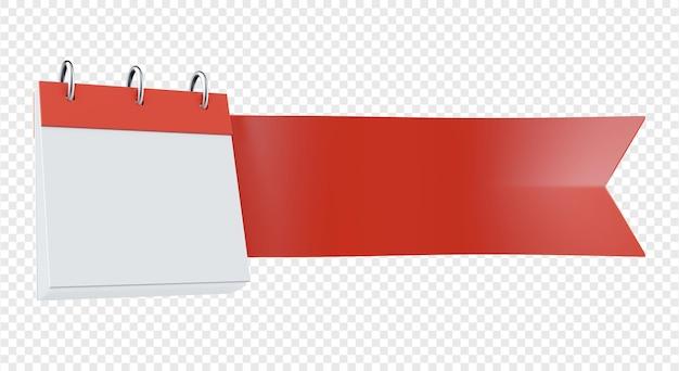Значок ленты с изолированной иллюстрацией календаря