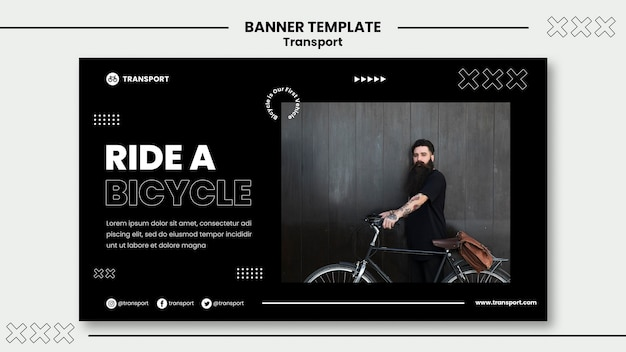 Ride bicycle banner template