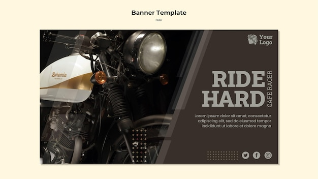 Rider concept banner template