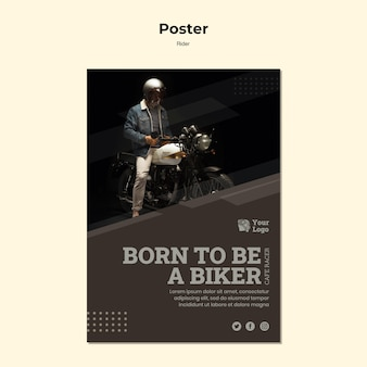 Rider concept poster template