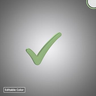 Right check mark  or tick 3d premium symbol
