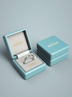 Ring box logo mockup