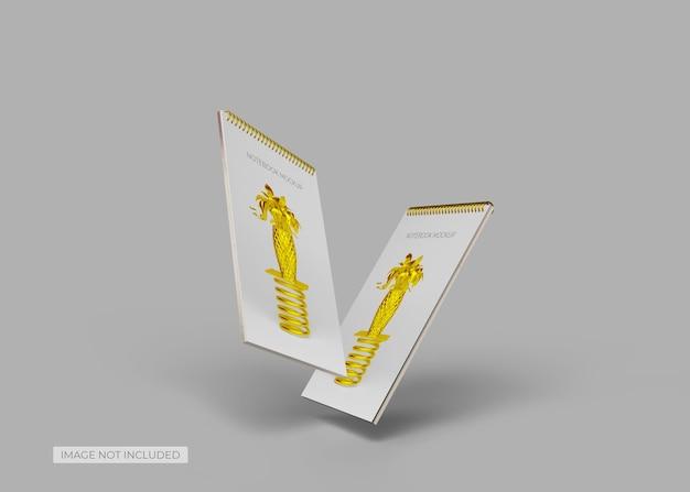 Мокап карманного блокнота с кольцами