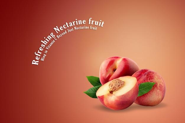 Ripe fresh nectarine fruit isolated