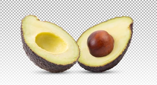 Спелые половинки авокадо изолированные