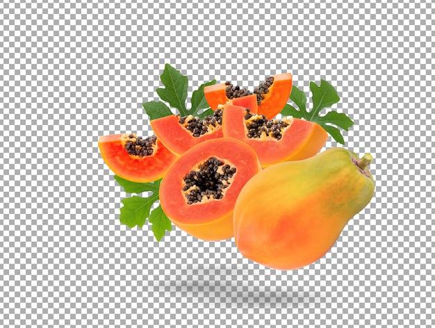 Изолированные плоды спелой папайи
