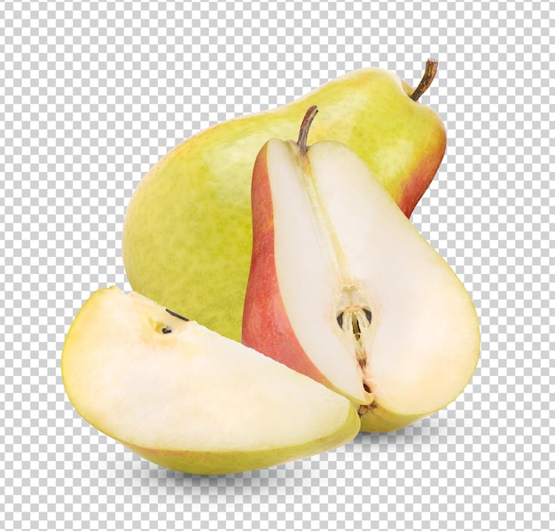 Ripe pears isolated rendering