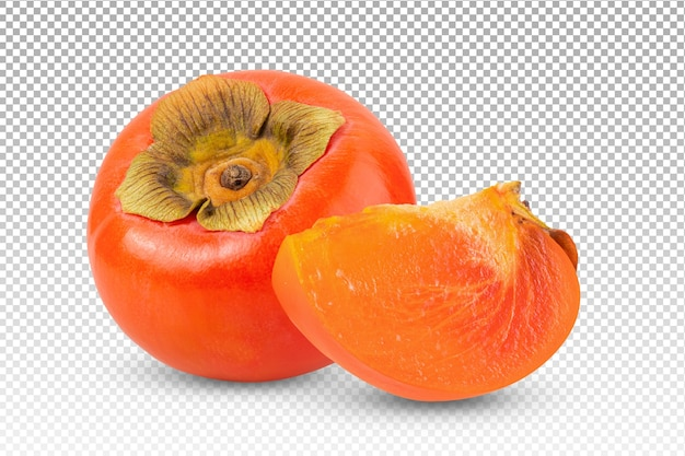 Ripe persimmons isolated