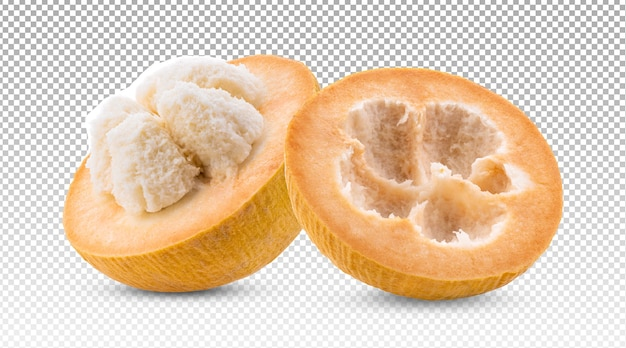 Ripe santol cotton fruit isolated