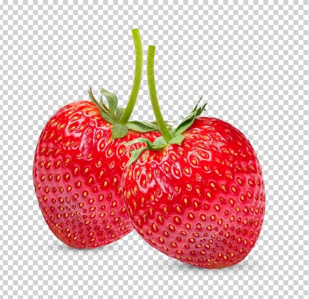고립 된 잘 익은 딸기