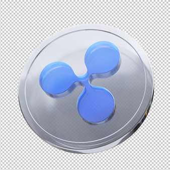 리플 동전 3d 그림