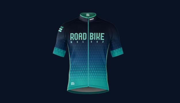 Road bike jersey front mockup