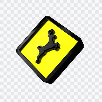交差する野生動物の道路標識