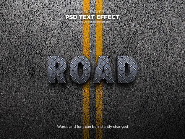 Road text effect mockup