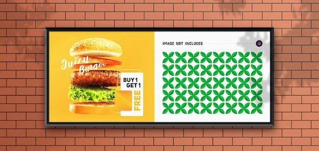 Roadside poster and billboard mockup