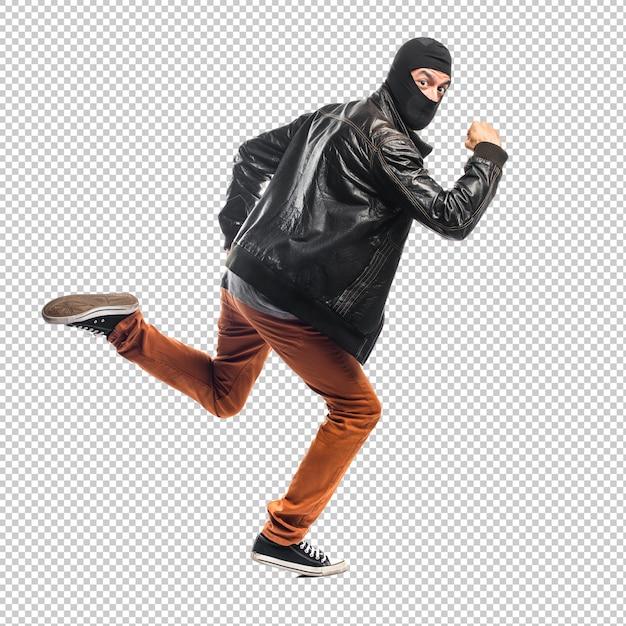 Robber running fast