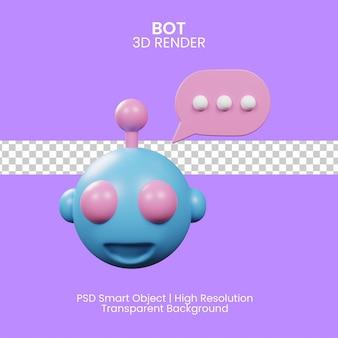로봇 아이콘입니다. 봇 사인 디자인. 챗봇 기호 개념입니다. 음성 지원 서비스 봇. 3d 그림